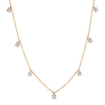 Rose Gold Diamond Charm Necklace