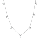 White Gold Diamond Charm Necklace
