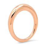 Rose Gold Solid Gold Asymmetrical Ring