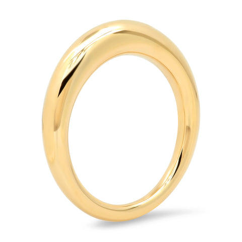 Yellow Gold Solid Gold Asymmetrical Ring