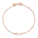 Rose Gold Resist Script Bracelet