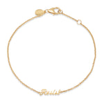 Yellow Gold Resist Script Bracelet