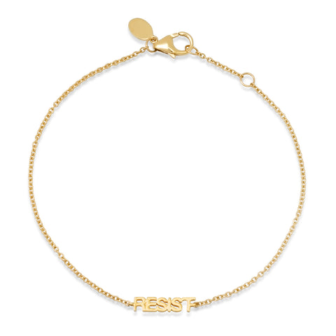 Yellow Gold Mini Resist Bracelet