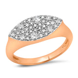 Rose Gold Diamond Evil Eye Signet Ring