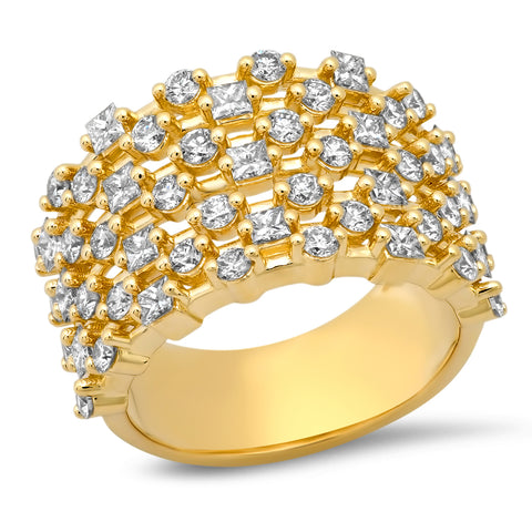 14K Yellow Gold Diamond Confetti Ring