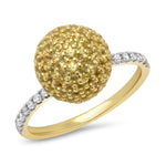 Eriness Jewelry Yellow Sapphire Disco Ball Ring