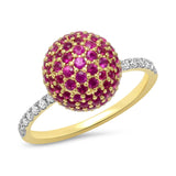Eriness Jewelry Ruby Disco Ball Ring