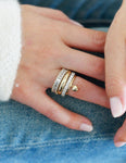 Asymmetrical Domed Ring