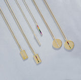 Eriness Jewelry Rainbow Baguette Stick Necklace