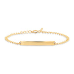 14K Solid Yellow Gold ID Bracelet
