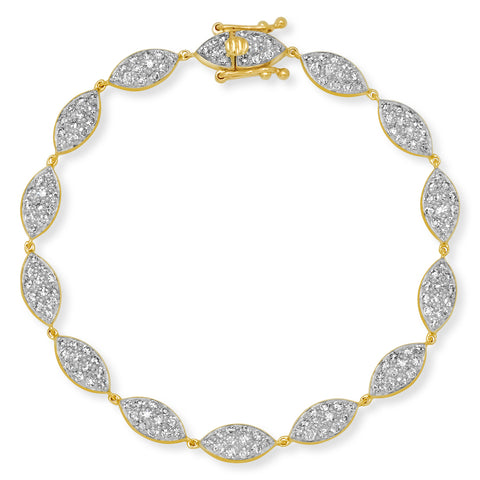 14K Yellow Gold Diamond Evil Eye Bracelet