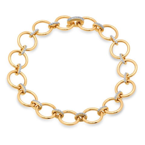 Eriness Jewelry Loop Bracelet with Diamond Links