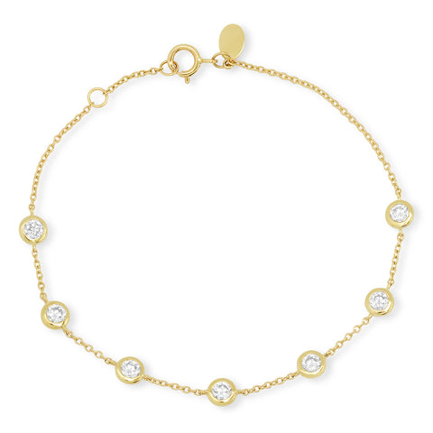 Yellow Gold Diamond Bezel Set Bracelet