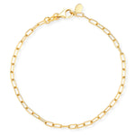 Eriness Jewelry Yellow Gold Chain Link Bracelet