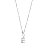 White Gold Diamond Mini Initial Necklace