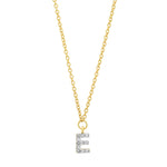 Yellow Gold Diamond Mini Initial Necklace