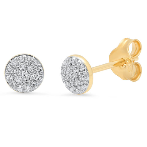 Eriness Jewelry Pave Diamond Circle Studs