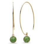 Eriness Jewelry Emerald Disco Ball Earrings