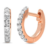 Eriness Jewelry Mini Diamond Huggies