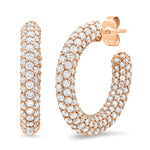 Eriness Jewelry Diamond Party Hoops