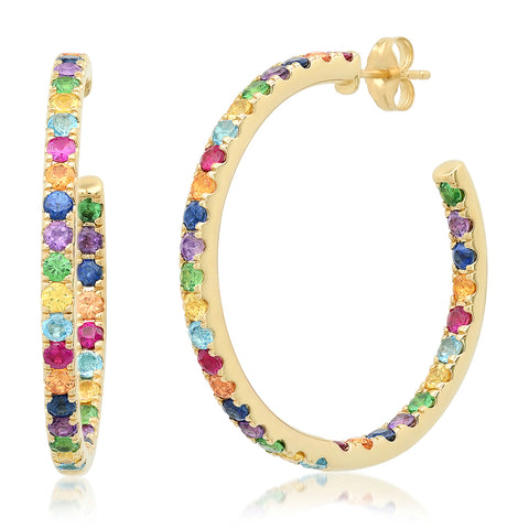 Eriness Jewelry Rainbow Hoops