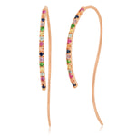 Eriness Jewelry Multi Colored Hook Earrings