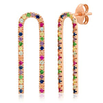 Eriness Jewelry Multi Colored Magnet Earrings