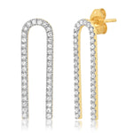 Eriness Jewelry Diamond Magnet Earrings