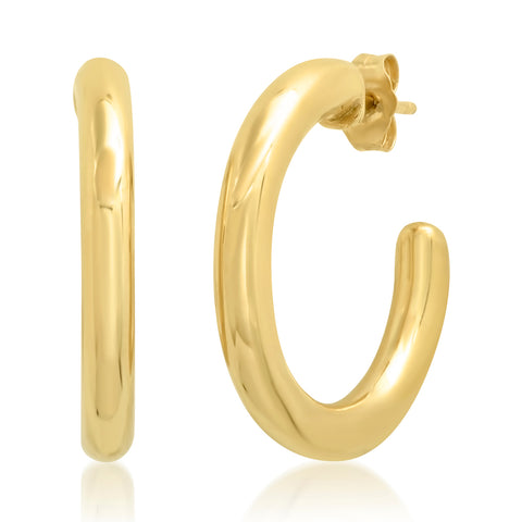 Yellow Gold Party Hoops