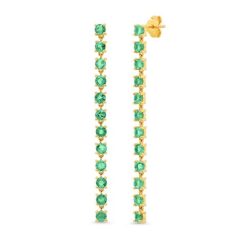 Emerald Link Earrings