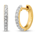 14K Yellow Gold Standard Diamond Huggies