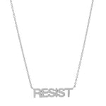 White Gold Resist Necklace