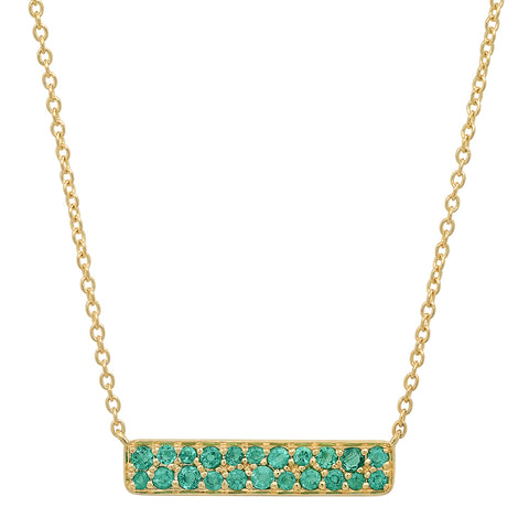 Eriness Jewelry Emerald Staple Necklace