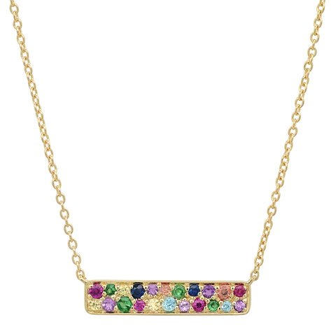 Multi Colored Staple Necklace