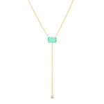 Eriness Jewelry Solitaire Emerald Lariat