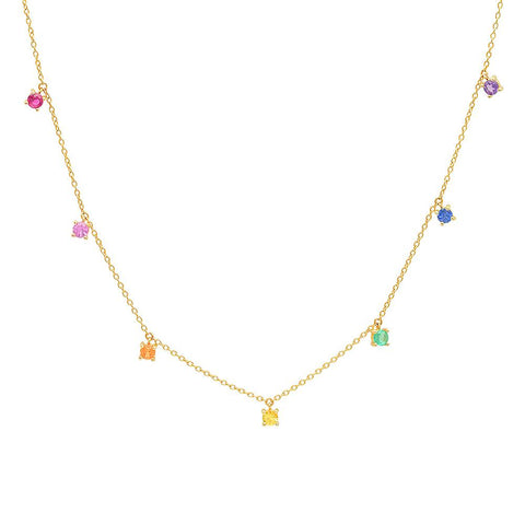 Eriness Jewelry Rainbow Charm Necklace