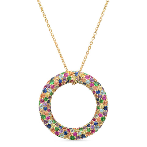 Eriness Jewelry Multi Colored Party Loop Necklace