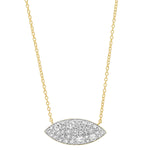 Yellow Gold Diamond Evil Eye Necklace