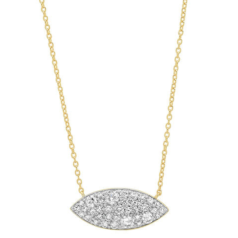 Eriness Jewelry Diamond Evil Eye Necklace