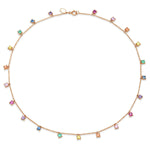 Rose Gold Infinite Rainbow Charm Necklace