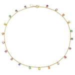 Yellow Gold Infinite Rainbow Charm Necklace