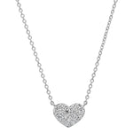 White Gold Diamond Smushed Heart Necklace