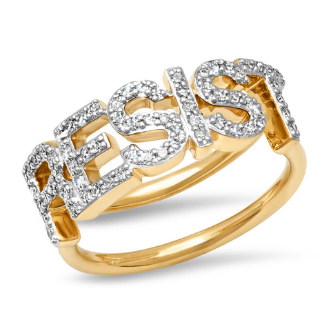 Yellow Gold Diamond Resist Ring