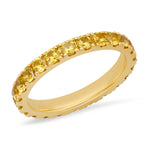 14K Yellow Gold Large Yellow Sapphire Eternity Band