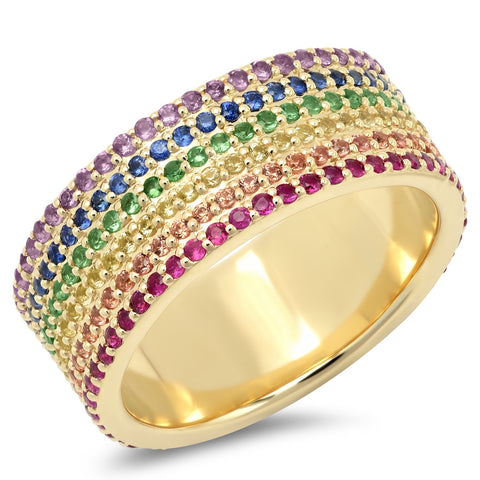 Eriness Jewelry Rainbow Cigar Band
