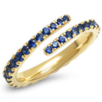 Eriness Jewelry Blue Sapphire Wrap Ring
