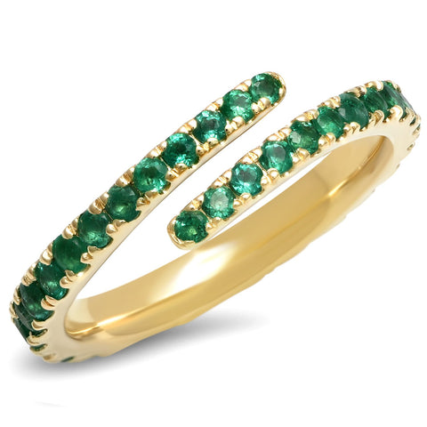 Eriness Jewelry Emerald Wrap Ring