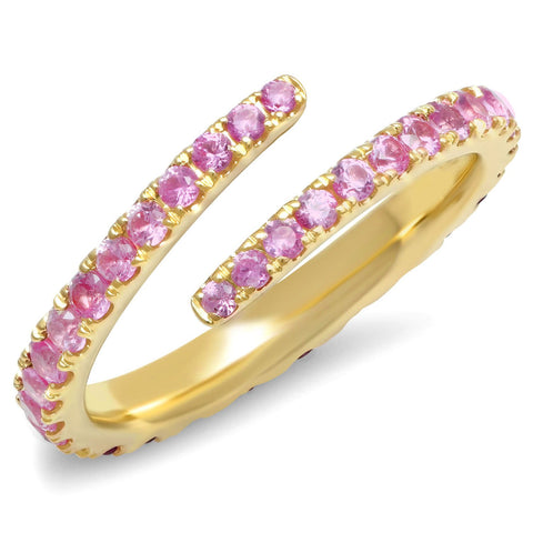 Eriness Jewelry Pink Sapphire Wrap Ring