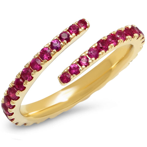 Eriness Jewelry Ruby Wrap Ring