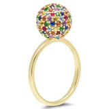 Eriness Jewelry Multi Colored Disco Ball Ring